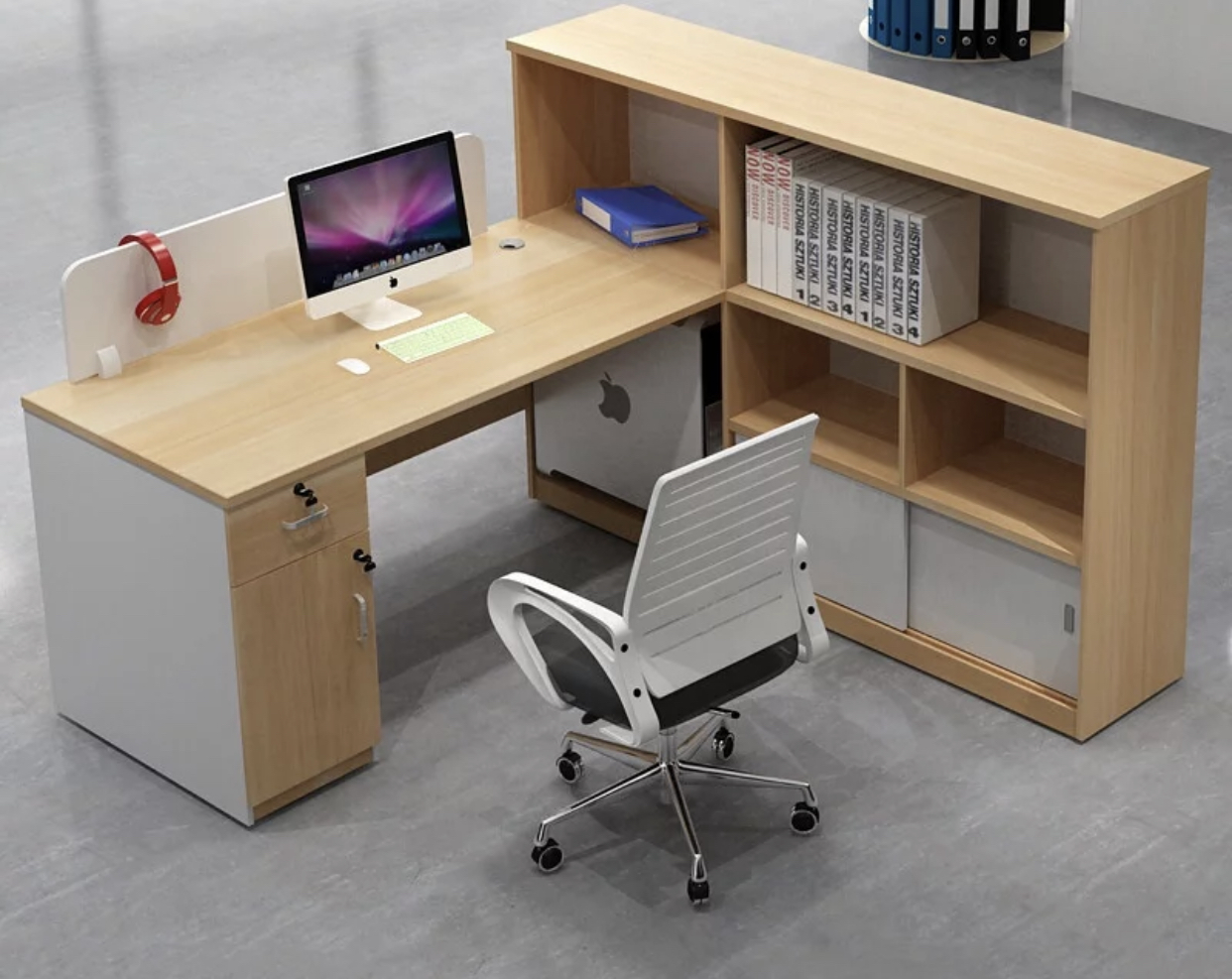 L type Free Standing Table for 1 pax