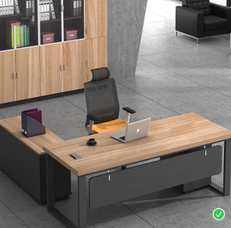 Executive table, L shaped desk, office table, office furniturev
